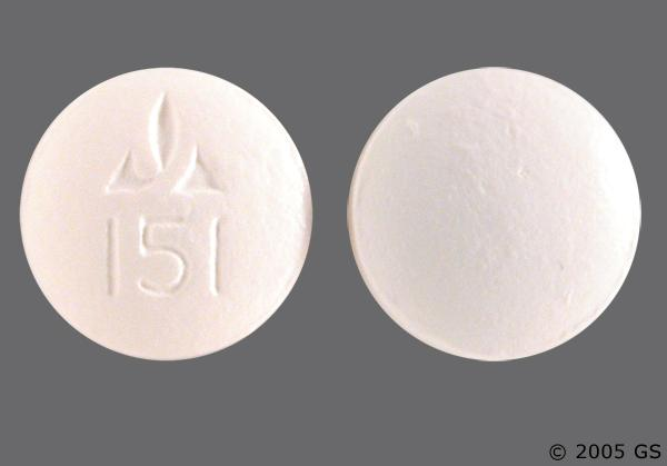 Pink Round Logo 151 - VESIcare 10mg Tablet