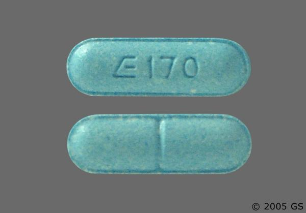 blue oblong valium