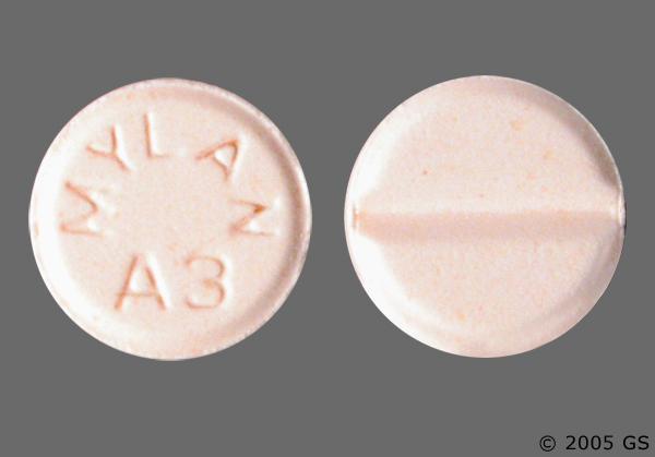 Peach Round Mylan A3 - Alprazolam 0.5mg Tablet