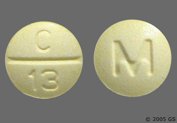 Yellow Round C 13 And M - Clonazepam 0.5mg Tablet
