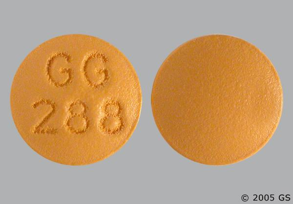 Yellow-Orange Round Gg288 - Cyclobenzaprine Hydrochloride 10mg Tablet