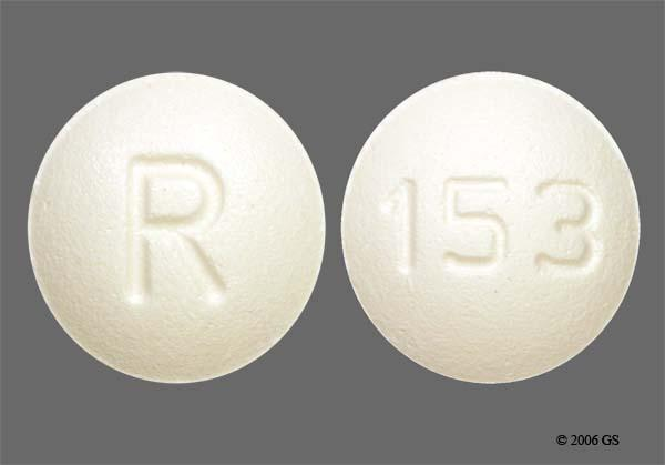 White Round 153 And R - Ondansetron Hydrochloride 4mg Tablet