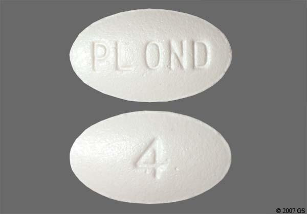 White Oval 4 And Pl Ond - Ondansetron Hydrochloride 4mg Tablet