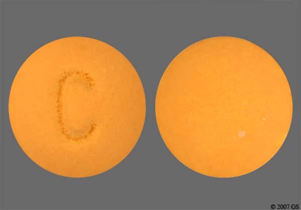 Imprint C Pill Images ...C 230 Yellow Round Pill
