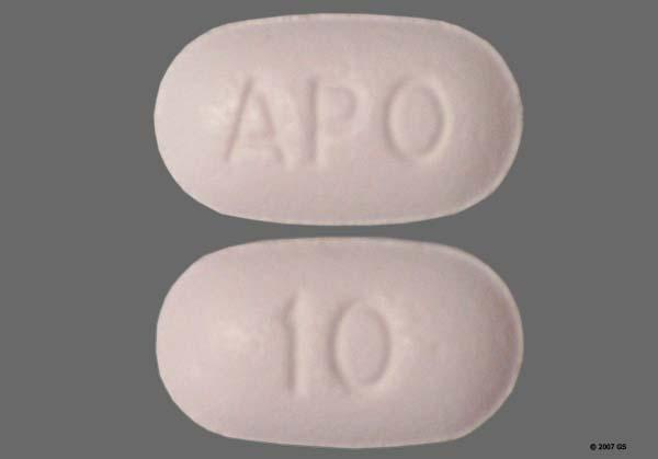 White Oblong 10 And Apo - Zolpidem Tartrate 10mg Tablet