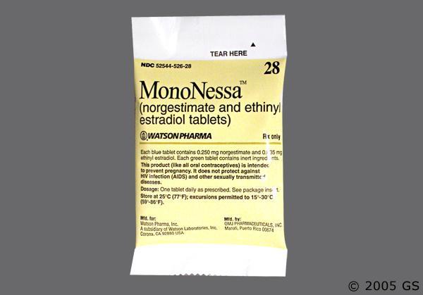 oral contraceptive Mononessa