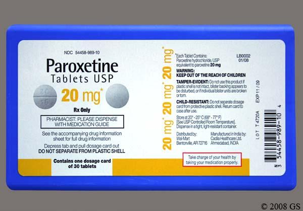 Paroxetine Price