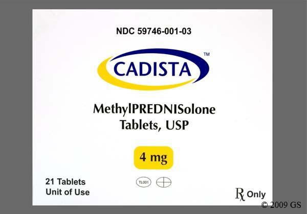Cadista Methylprednisolone 4mg Uses