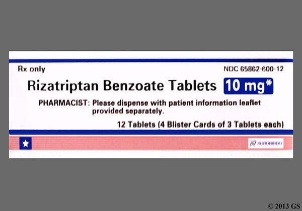 Rizatriptan Benzoate 10mg Tablet