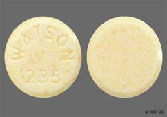 Yellow Round Package Watson 235 - Nor-QD 28-Day Tablet