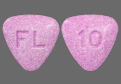 Purple Triangle 10 And Fl - Bystolic 10mg Tablet
