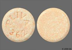 Orange Round Tablet Sl 362 And Pliva 362 - Chlorthalidone 25mg Tablet
