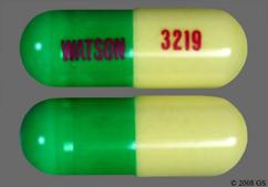 Green And Yellow Watson 3219 - Butalbital/Aspirin/Caffeine 50mg-325mg-40mg Capsule