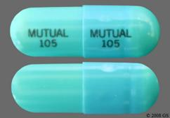 Blue Mutual 105 Mutual 105 - Doxycycline Hyclate 100mg Capsule