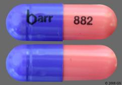 Pink And Purple Capsule Barr 882 - Hydroxyurea 500mg Capsule