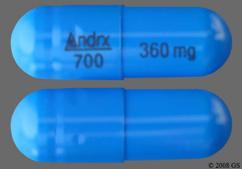 Blue Andrx 700 360 Mg - Taztia XT 360mg Extended-Release Capsule