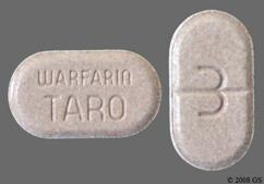 Tan Oblong Tablet Warfarin Taro And 3 - Warfarin Sodium 3mg Tablet