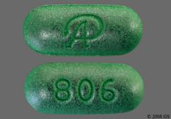 Green Oblong Tablet Logo And 806 - Esterified Estrogens/Methyltestosterone 1.25mg-2.5mg DS Tablet