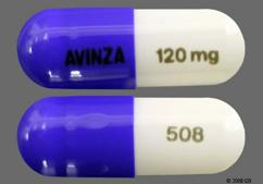 Blue And White Capsule Avinza 120 Mg 508 And Logo 120Mg 508 - Avinza 120mg Extended-Release Capsule