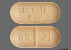 Peach Oblong Tablet 04 31 And Wallace - Felbatol 600mg Tablet