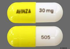 White And Yellow Capsule Avinza 30 Mg 505 And Logo 505 30Mg - Avinza 30mg Extended-Release Capsule