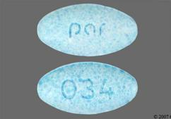 Blue Oval Tablet Par, Par, And 034 - Meclizine Hydrochloride 12.5mg Tablet