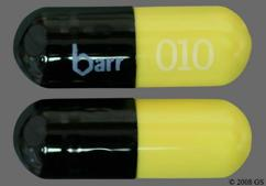Black And Yellow Capsule Barr 010 And Wpi 2235 - Tetracycline Hydrochloride 500mg Capsule
