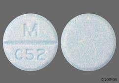 Blue Round M C52 - Carbidopa/Levodopa 25mg-100mg Orally Disintegrating Tablet