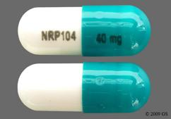 Blue-Green And White Capsule Nrp104 40 Mg And S489 40 Mg - Vyvanse 40mg Capsule