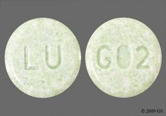 Green Round Tablet Lu And G02 - Lovastatin 20mg Tablet