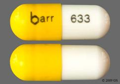 White And Yellow Capsule Barr 633 - Danazol 50mg Capsule