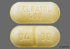 Yellow Oblong Tablet 04 30 And Wallace - Felbatol 400mg Tablet