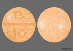 Orange Round P 10 - Propranolol Hydrochloride 10mg Tablet