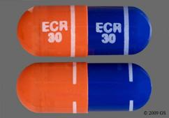 Blue And Orange Capsule C Cephalon 30 Mg - Amrix 30mg Extended-Release Capsule