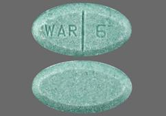 Blue-Green Oval Tablet War 6 - Warfarin Sodium 6mg Tablet