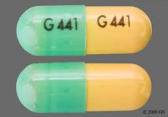 Green And Yellow G441 G441 - Dantrolene Sodium 25mg Capsule
