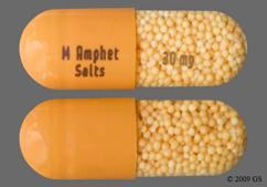 Orange Capsule M. Amphet Salts 30 Mg - Amphetamine/Dextroamphetamine Salts 30mg Extended-Release Capsule