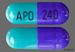 Blue-Green And Blue Capsule Apo 240 - Diltzac 240mg Extended-Release Capsule