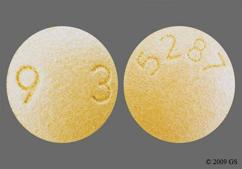 Beige Round Tablet 93 And 5287 - Ropinirole Hydrochloride 4mg Tablet