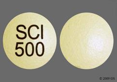 Beige Round Tablet Sci 500 - Sular 8.5mg Extended-Release Tablet