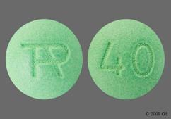 Green Round Tap And 40 - Uloric 40mg Tablet