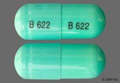 Green Capsule B 622 B 622 - Chlordiazepoxide Hydrochloride/Clidinium Bromide 5mg-2.5mg Capsule