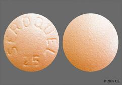 Peach Round Tablet Seroquel 25 - Seroquel 25mg Tablet