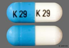 Blue And White Capsule K 29 K 29 - Phentermine Hydrochloride 37.5mg Capsule