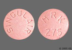 Pink Round Chewable Tablet Mrk 275 And Singulair - Singulair 5mg Chewable Tablet