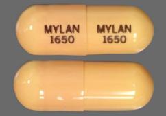 Tan Capsule Mylan 1650 Mylan 1650 - Nitrofurantoin (Macrocrystalline) 50mg Capsule