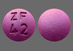 Purple Round Tablet Zf 42 - Ropinirole Hydrochloride 3mg Tablet