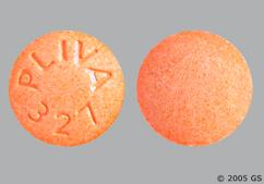 Orange Round Tablet Pliva 327 - Hydralazine Hydrochloride 25mg Tablet