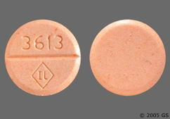 Peach Round Tablet 3613 Il - Isosorbide Dinitrate 40mg Extended-Release Tablet
