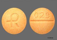 Peach Round Tablet Logo And 029 - Alprazolam 0.5mg Tablet